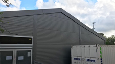temporary warehouse walls and roof